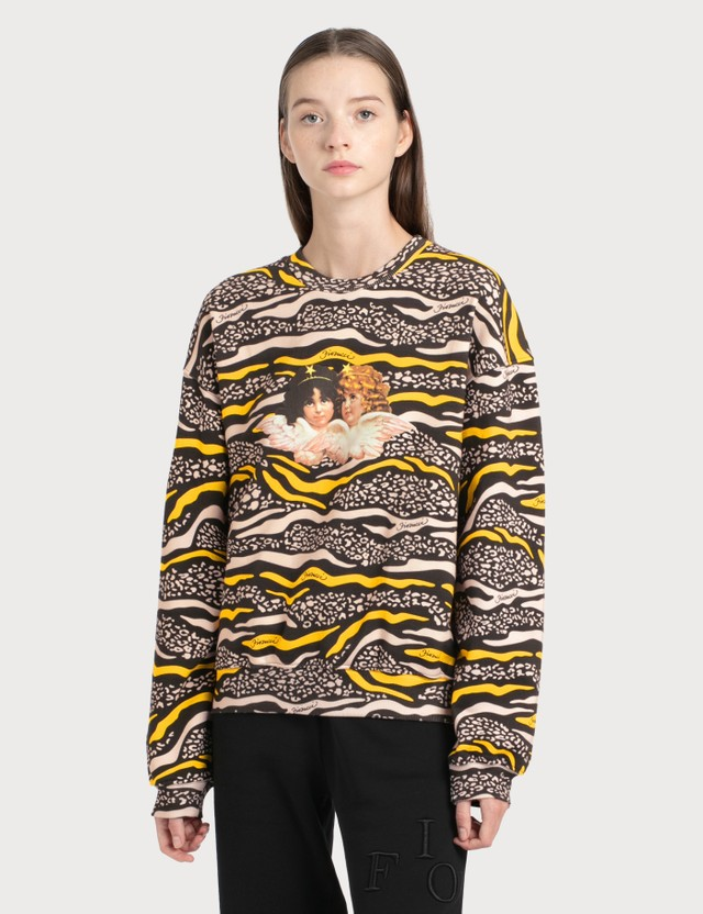 Fiorucci Vintage Angels Wildlife Printed Sweatshirt Multicolor Women