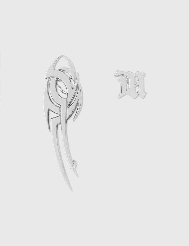 Misbhv Tribal + Monogram Earrings Silver Women