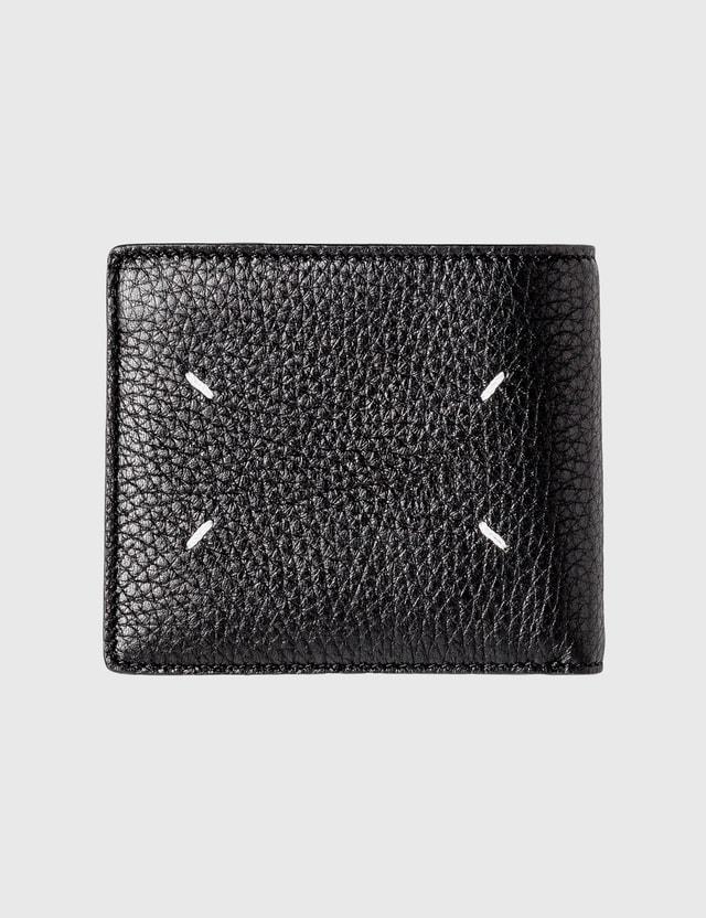 Maison Margiela Leather Wallet Black/black Men