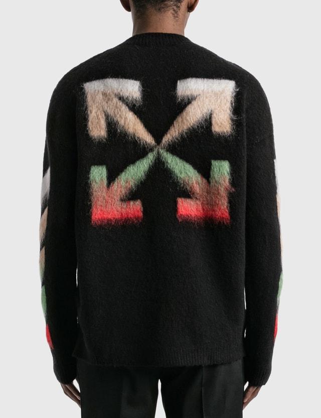 Off-White Diagonal Brushed Arrows Knitted Jumper Black Men
