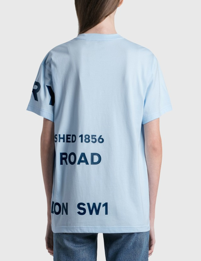 Burberry Horseferry Print Cotton Oversized T-shirt Pale Blue Women