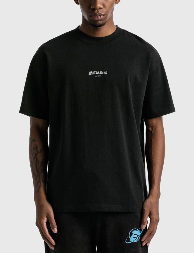 Earthling Collective 3M Reflective Logo Oversize T-shirt Black Men