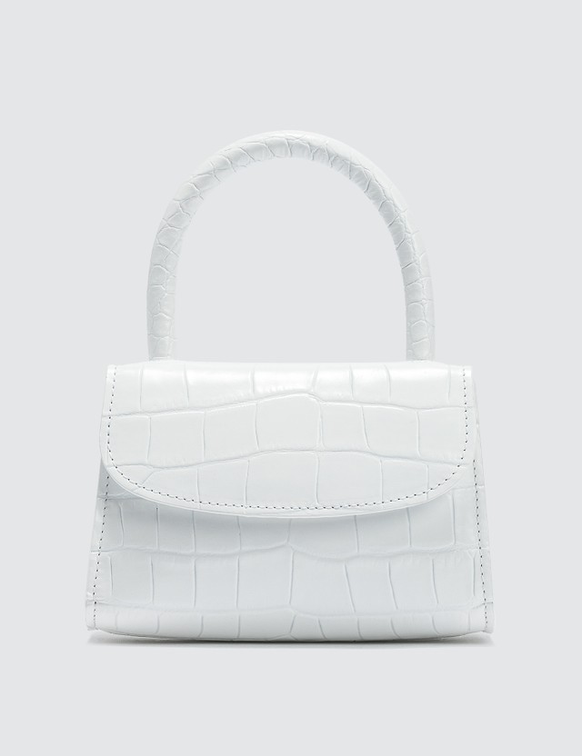 BY FAR Mini Croco Embossed Leather Bag