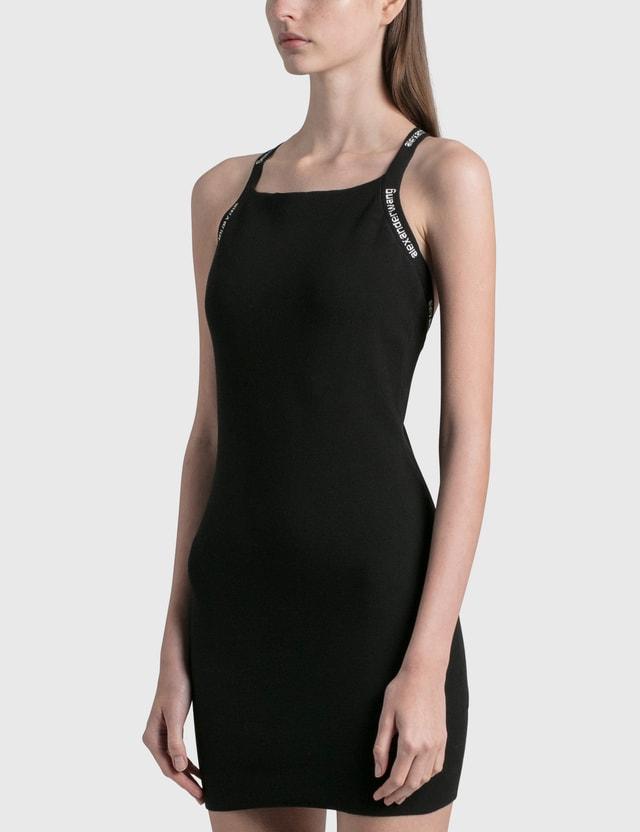 Alexander Wang.T Logo Trim Bodycon Dress Black Women