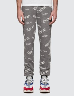 Versace Font Monogram Printed Sweatpants