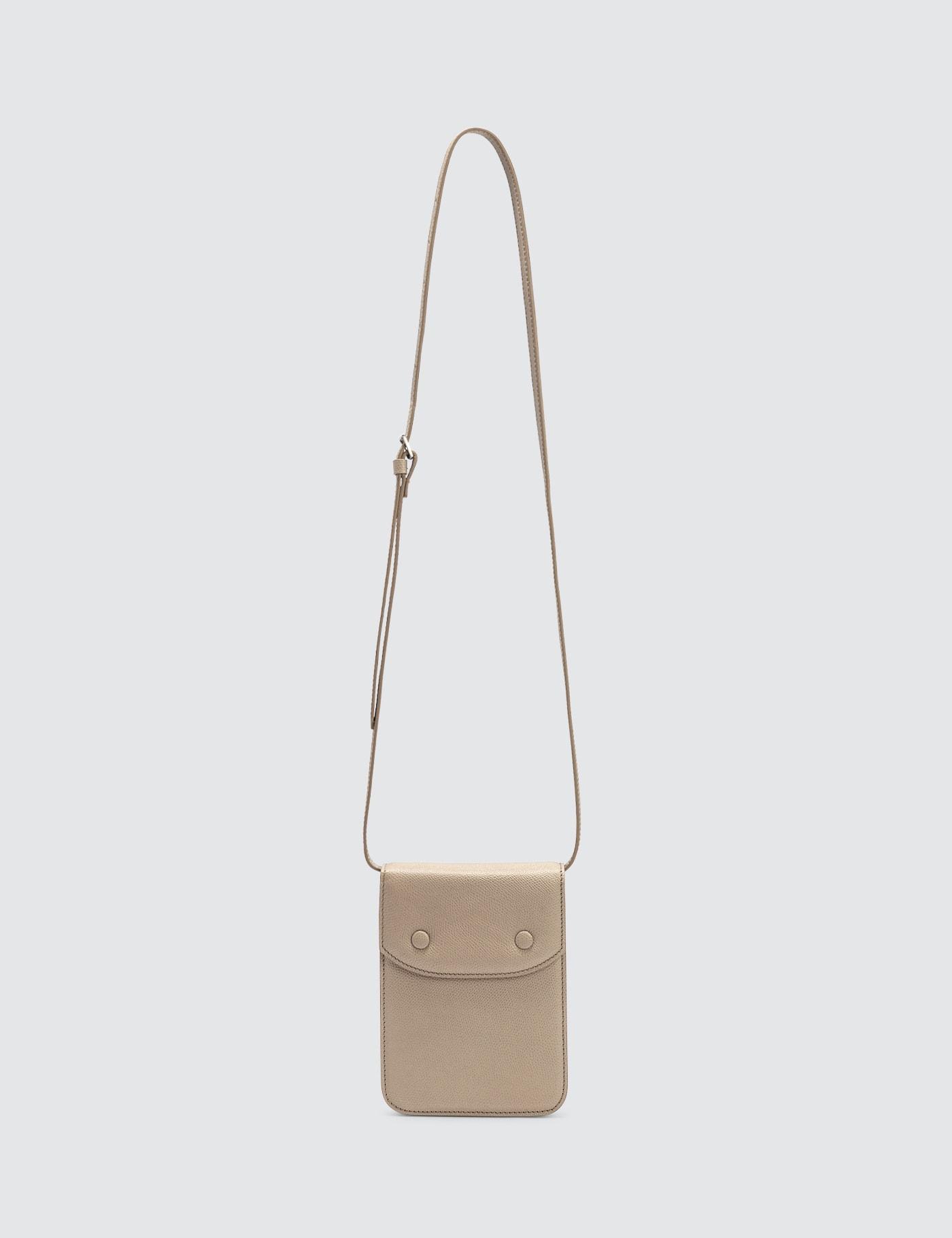 Grainy Leather Cross Body Bag