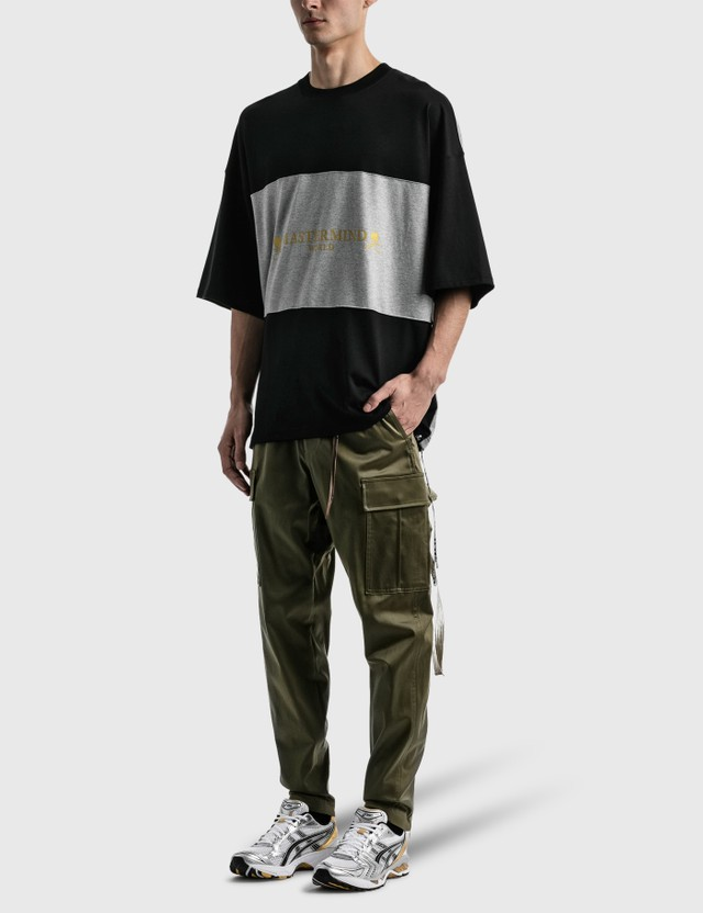 Mastermind World Horizontal T-shirt Black X Top Gray Men