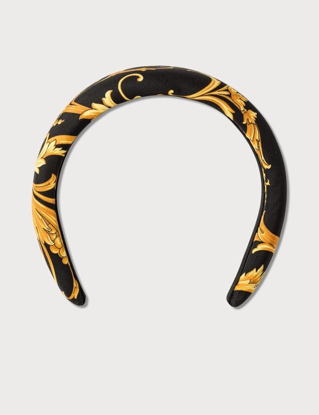 Versace Barocco Signature Print Headband