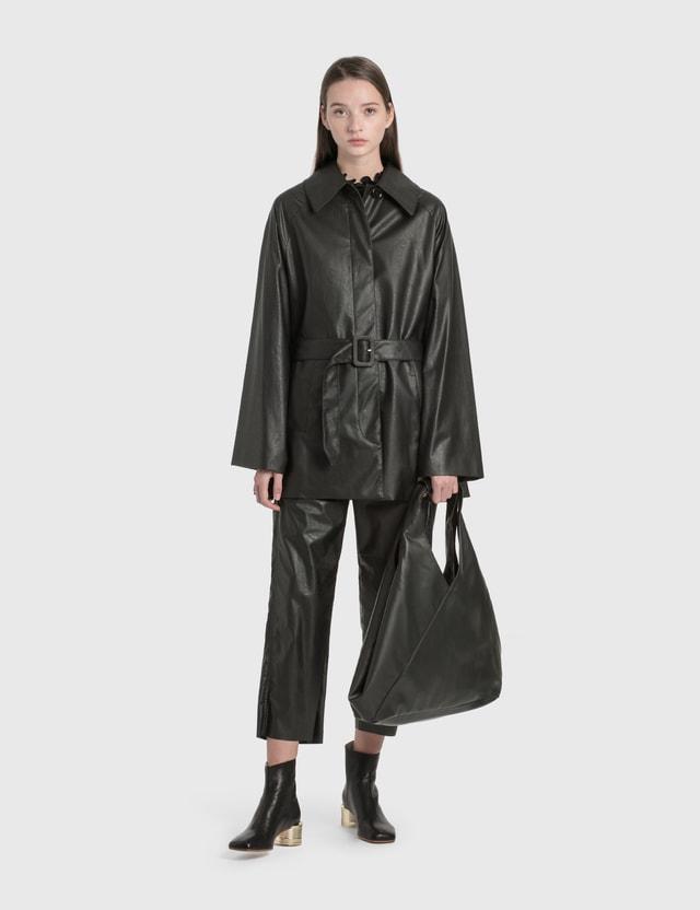 MM6 Maison Margiela Eco Leather Jacket Black Women