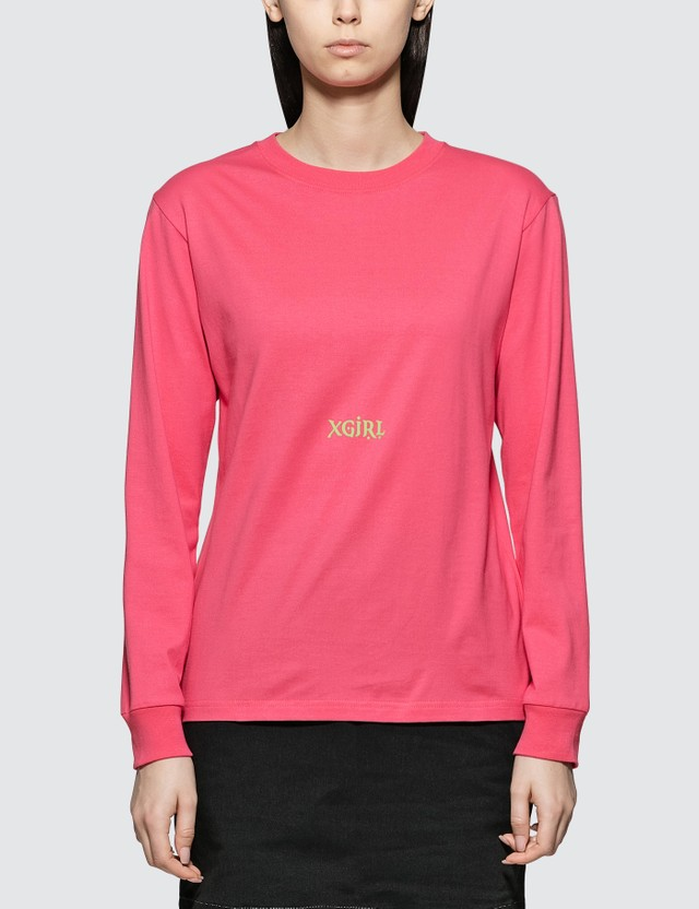 X-Girl Letters Long Sleeve T-shirt