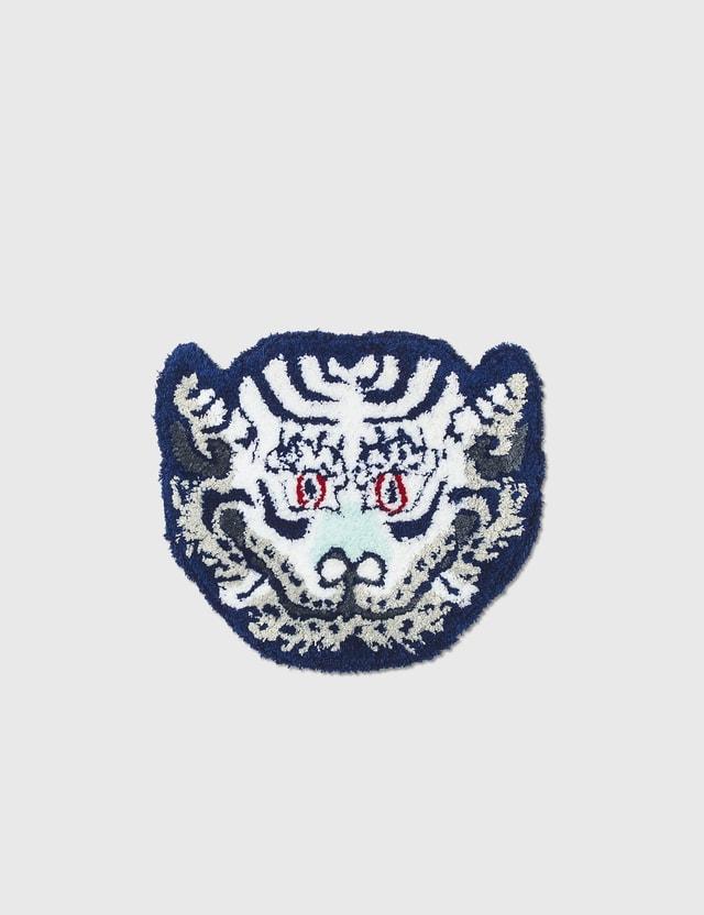 RAW EMOTIONS Mascot Tiger Head Rug White Men