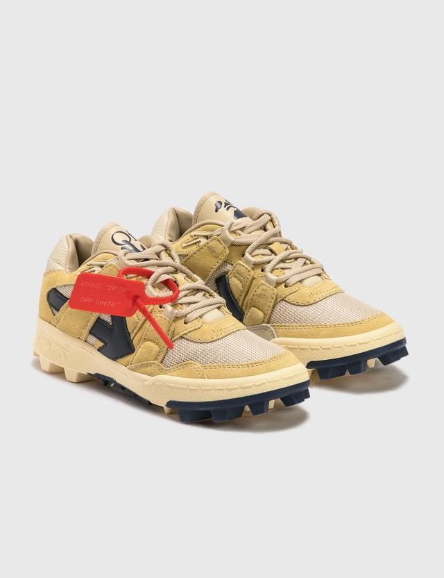 Off-White Mountain Cleats Sneakers Beige Navy Blue Women