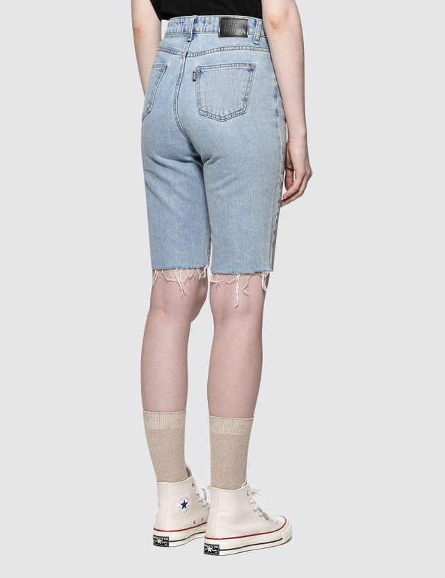 MISCHIEF Knee Length Pants Light Blue Women