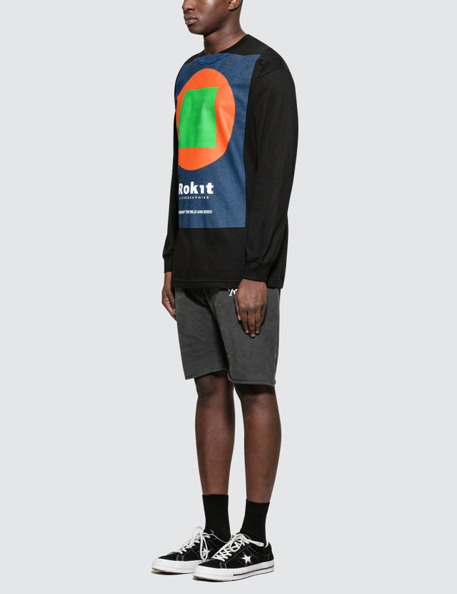 Rokit The Exhibition L/S T-Shirt Black Men