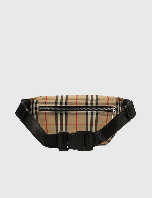Burberry Medium Vintage Check Bonded Cotton Bum Bag Archive Beige Men