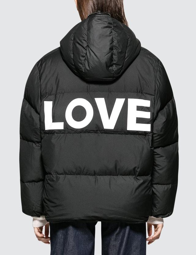 Katharine Hamnett Duvetica X Katharine Hamnett Oversized Down Puffer Jacket With Love Slogan