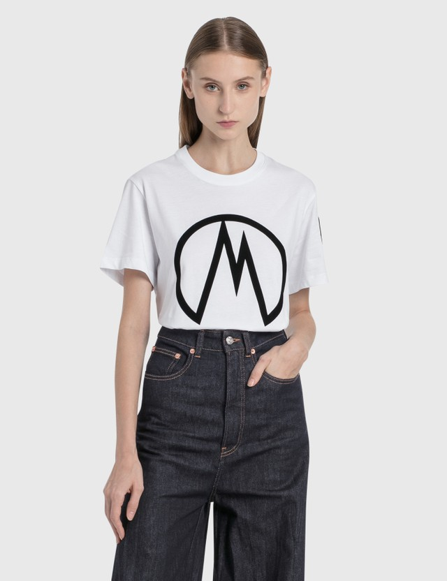 Moncler M Logo T-Shirt White Women