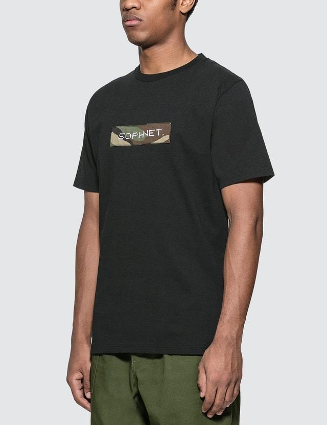 SOPHNET. Camouflage Box Logo T-Shirt