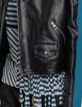 Loewe Blue Bands Leather Biker Jacket