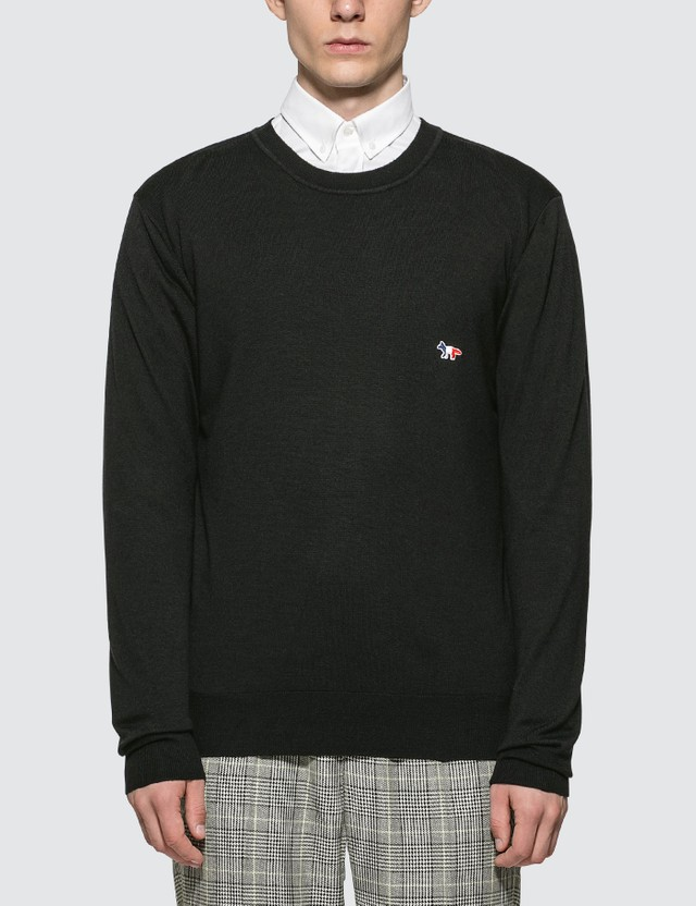 Maison Kitsune Virgin Wool R-neck Pullover