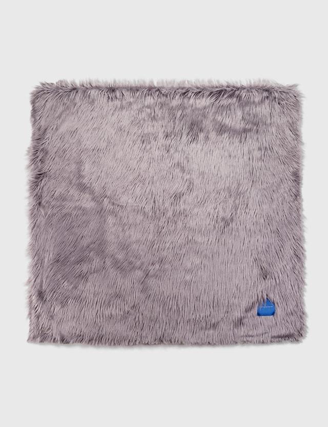 Crosby Studios Gray Faux Fur Blanket