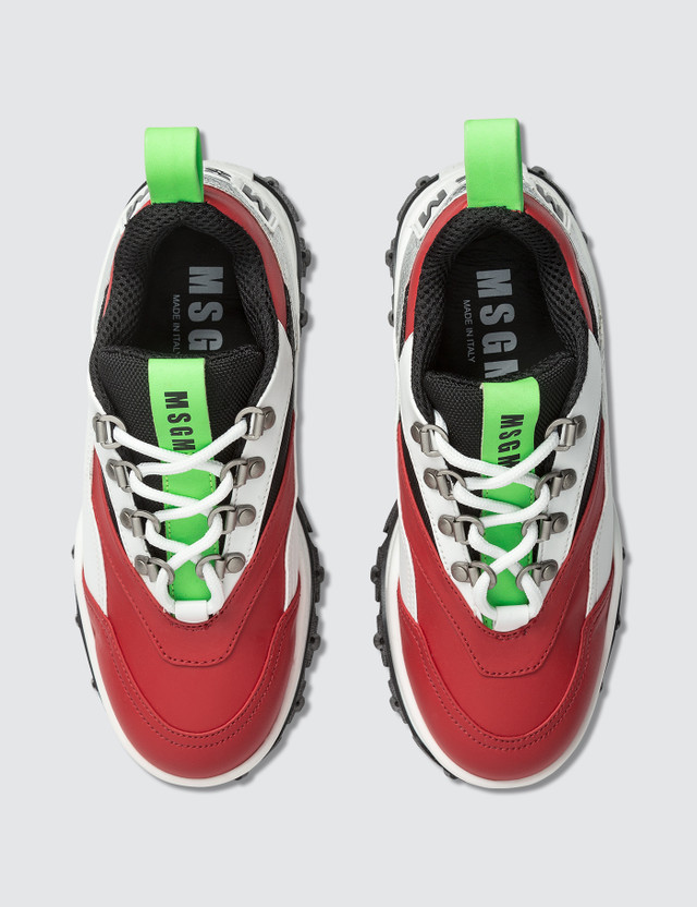 MSGM Chucky Low Top Sneaker Red Women