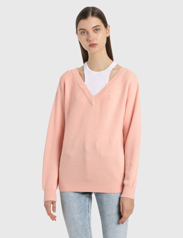 Alexander Wang.T Classic Bi-layer Sweater Light Peach Women