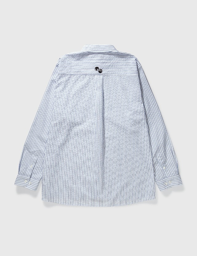 LMC Seersucker Basic Stripe Shirt Blue Men