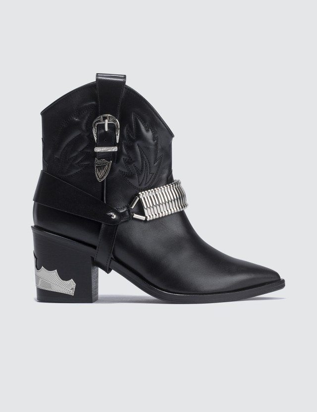 Toga Pulla Western Harness Leather Boots