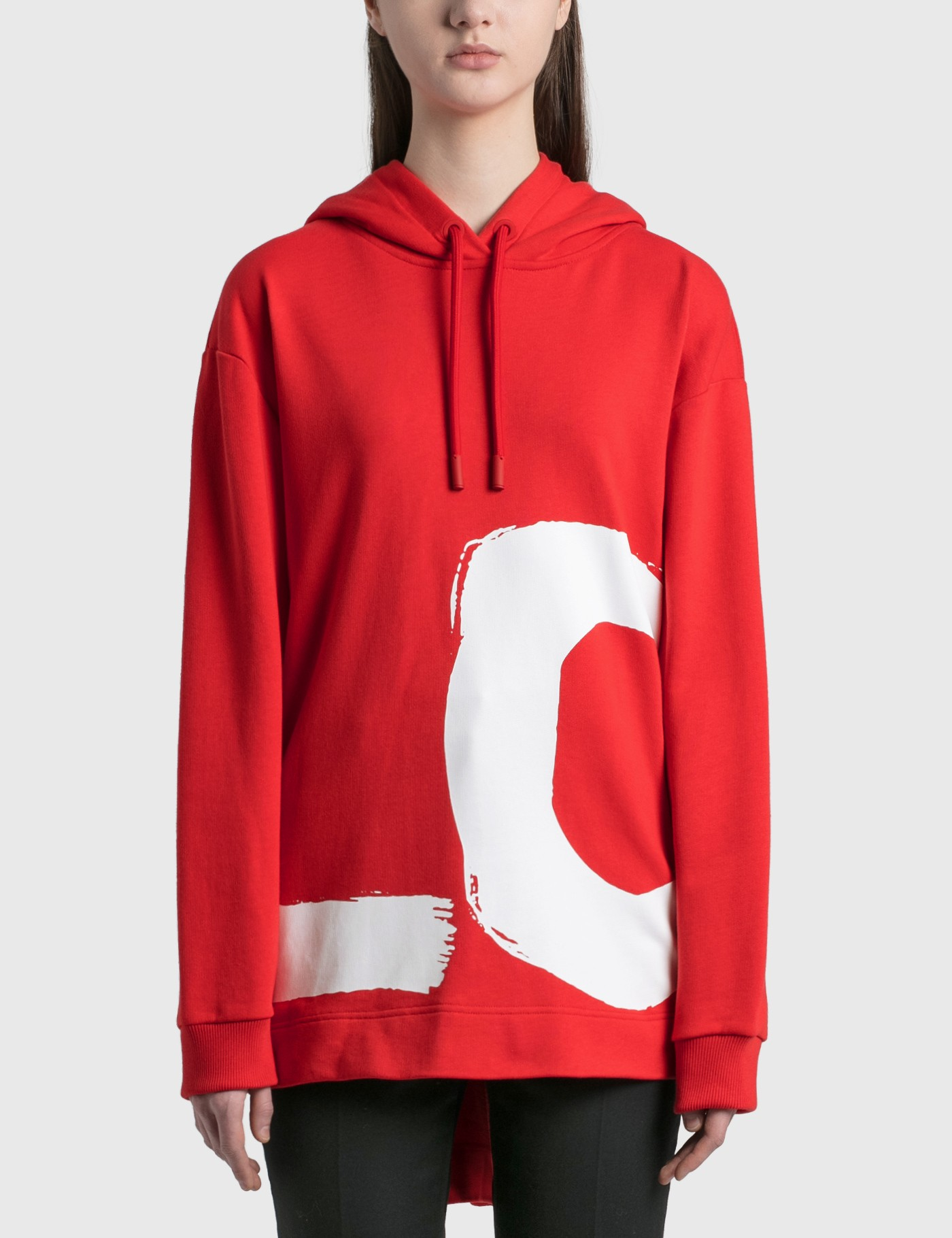 Love Print Cotton Oversized Hoodie