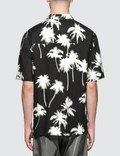MSGM Palm Tree Print S/S Bowling Shirt