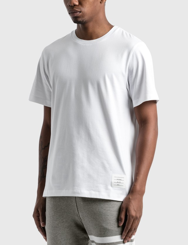 Thom Browne Side Slit Relaxed T-Shirt White Men