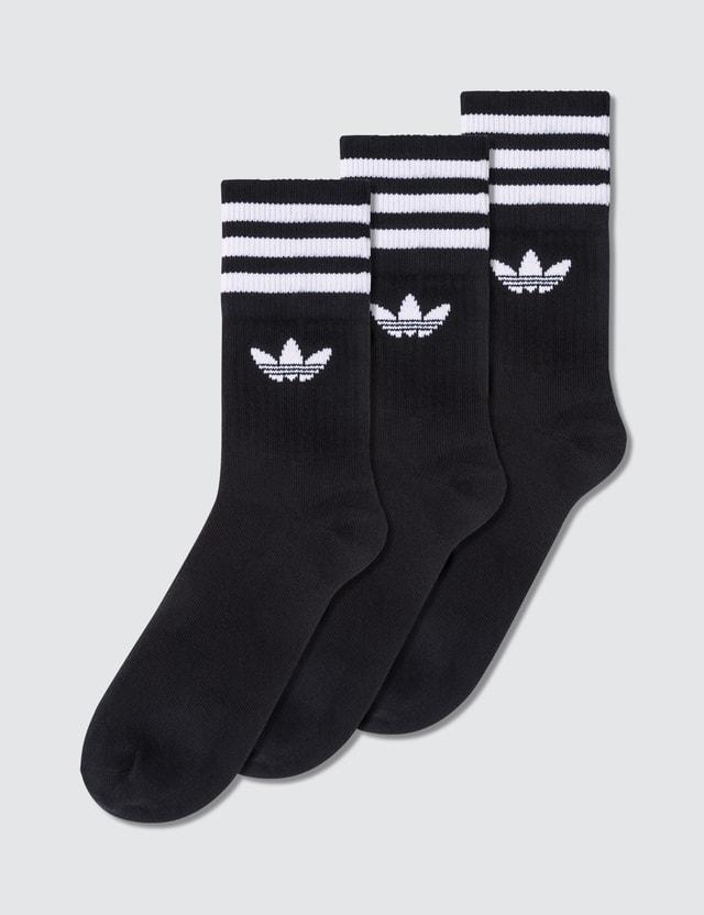 Adidas Originals Striped Mid Cut Socks (3 Pack)
