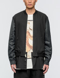 3.1 Phillip Lim Classic Bomber Shirt Jacket with Nylon Sleeves Picture