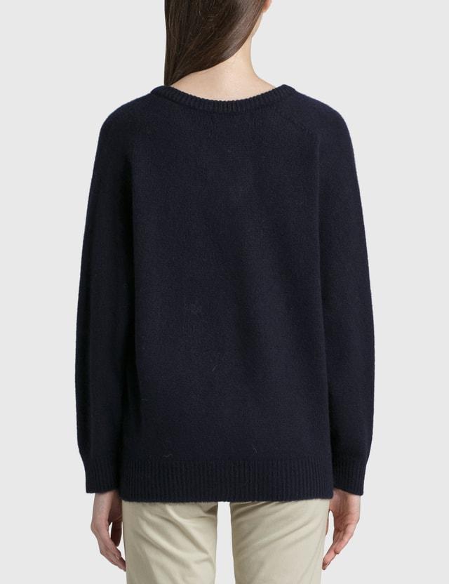 Nothing Written V-neck Sweater Blue Women