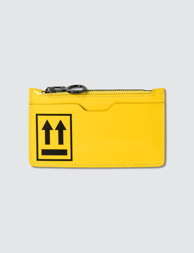 Off-White Patent Card Wallet