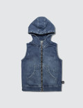 NUNUNU Denim Hooded Vest Picutre