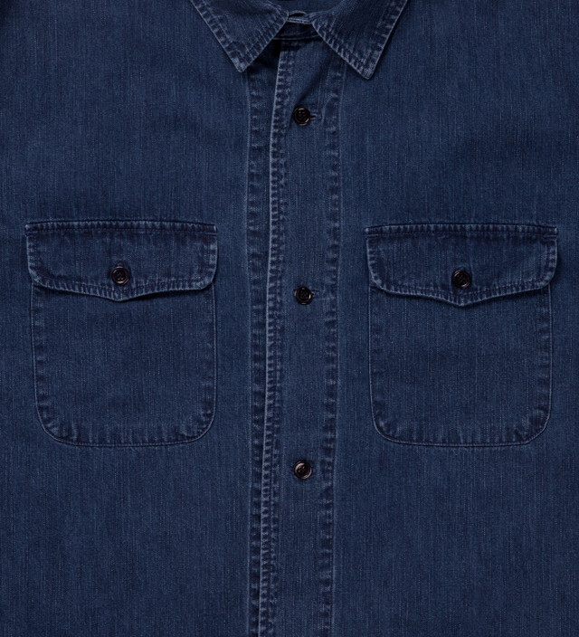 A.P.C. Indigo Denim Army Shirt