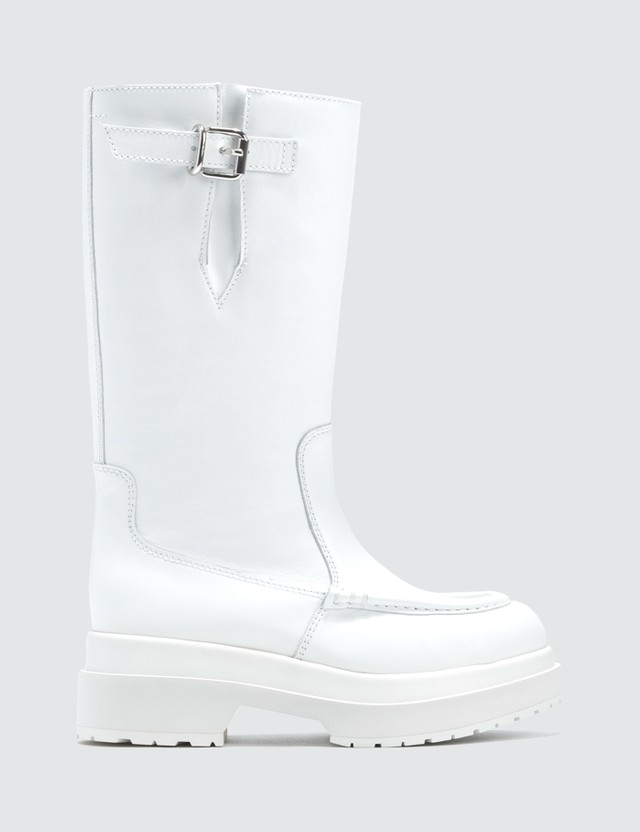 MM6 Maison Margiela Leather Long Boot