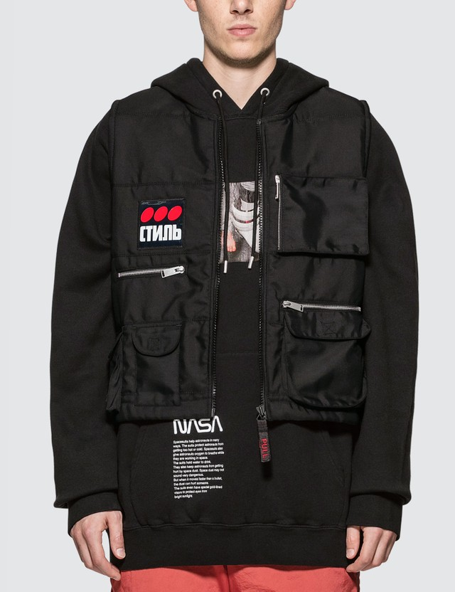 Heron Preston Multi Pockets Fire Vest Black Men