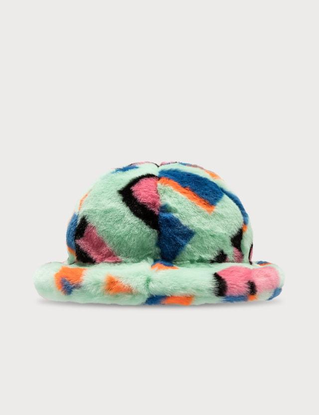 Kirin Kirin Jacquard Eco Fur Cloche Hat