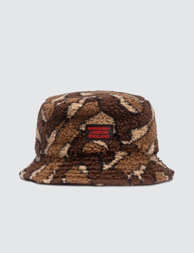 Burberry Monogram Fleece Bucket Hat