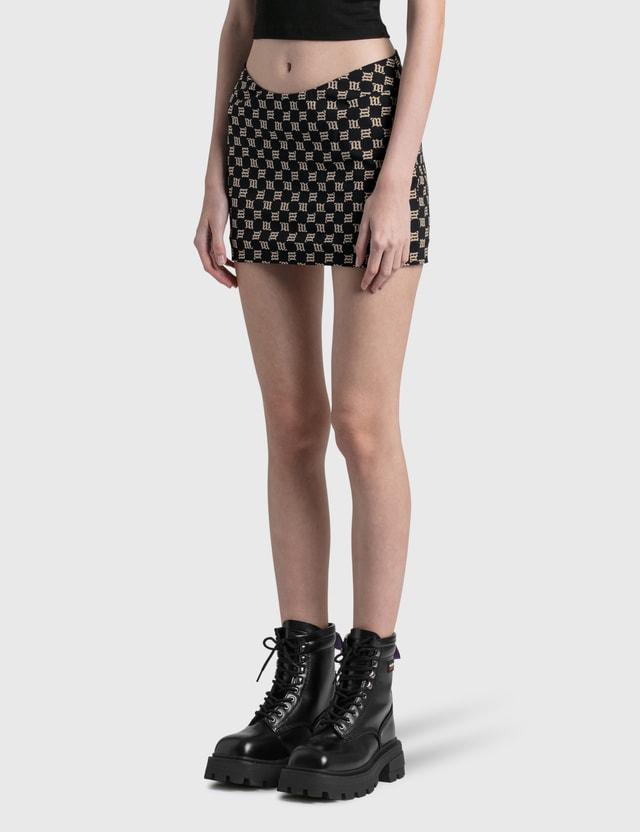 Misbhv Monogram Trinity Mini Skirt Black Women