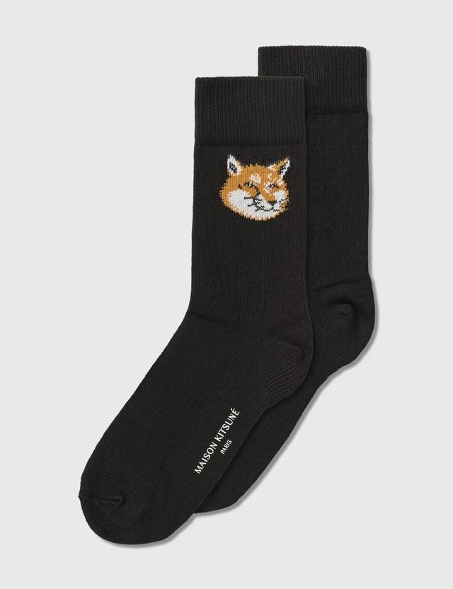 Maison Kitsune Fox Head Socks