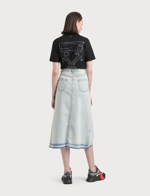 Off-White Ruffle Denim Skirt