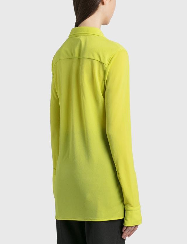Bottega Veneta 크레페 저지 셔츠 Kiwi Women