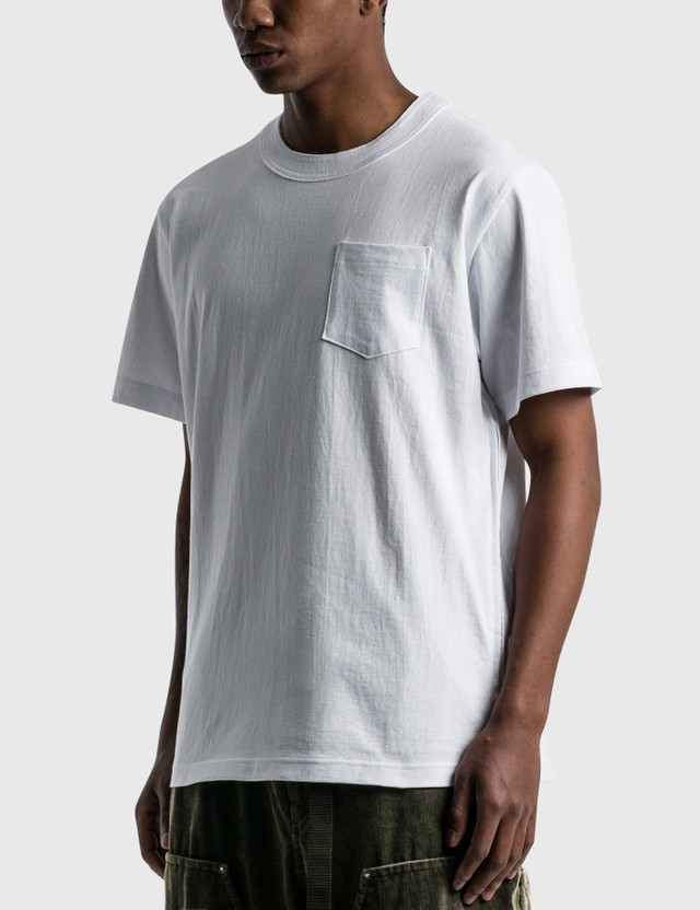 Sacai Side Zip Cotton T-shirt White Men