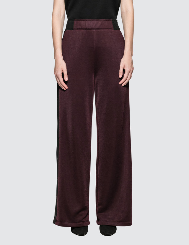 Alexander Wang.T Sleek French Wide Leg Pants With T Detail