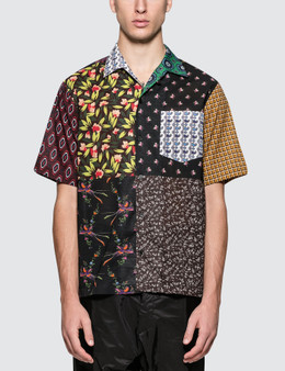Stella McCartney Multi Pattern Short Sleeve Bowling Shirt