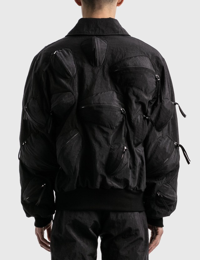 KANGHYUK Airbag Whole Body-guarded Bomber Jacket Black Men